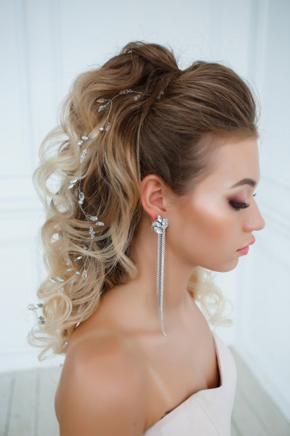 Hair piece and Earrings