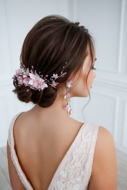 Hair comb and Earrings